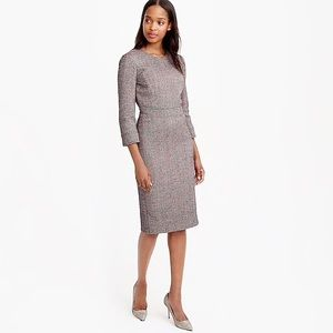 J. Crew fitted silhouette neon sparkle tweed dress